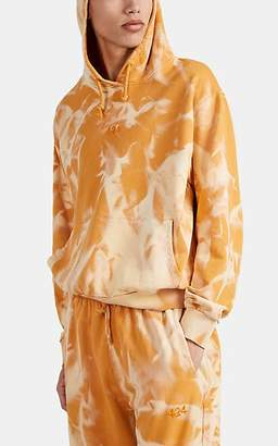 424 X Armes Men's Embroidered Bleached Cotton Hoodie - Orange