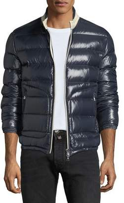 Moncler Men's Aubert Quilted Zip-Front Jacket