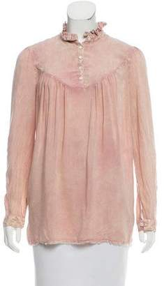 Raquel Allegra Long Sleeve Distressed Top w/ Tags
