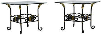 One Kings Lane Vintage Regency-Style Forged Iron Side Tables - Castle Antiques & Design