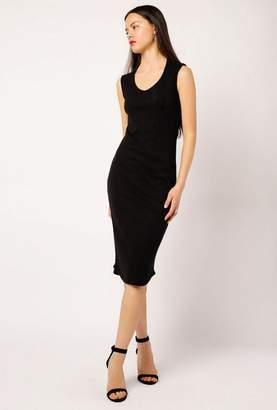 Monrow Open Back Cap Sleeve Dress