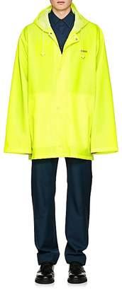 Vetements Men's Logo Hooded Raincoat