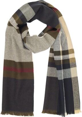 Marina D'Este Tartan Wool & Cashmere Scarf