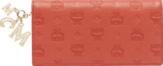 MCM Two Fold Wallet In Monogram Leather Charm