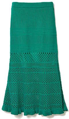 DRWCYS (ドロシーズ) - DRWCYS 透かし編みマーメイドニットスカート