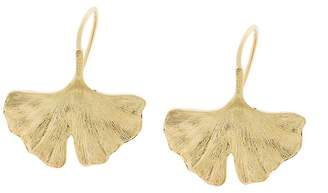 Aurelie Bidermann 18kt yellow gold Ginkgo earrings