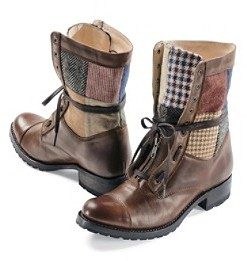 Pendleton Patchwork Leather Boots