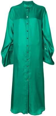 Margaux Rouge slit sleeve maxi shirt