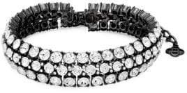 Oscar de la Renta Clustered Crystal Choker Necklace