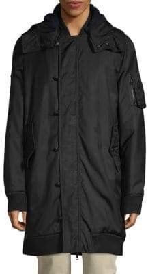Pierre Balmain Hooded Full-Zip Jacket