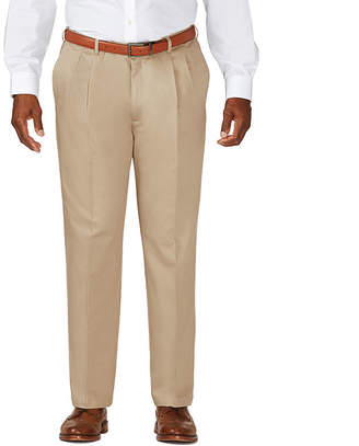 Haggar Work to Weekend Pleated Pants-Big & Tall