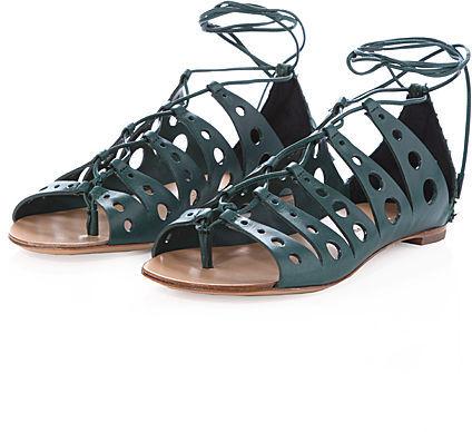 Proenza Schouler / Cutout Lace-Up Sandal