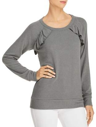 Chaser Ruffled Cutout Sweatshirt
