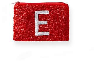Mark And Graham Beaded Initial Pouch