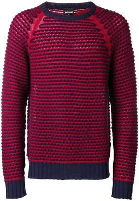 Just Cavalli chunky knit raglan sweater