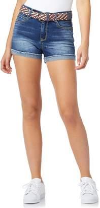 Americana Wallflower Juniors' WallFlower Legendary High-Waisted Belted Shorts