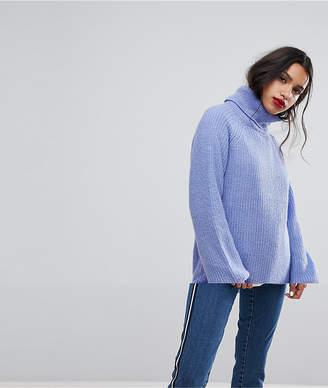 Vero Moda Roll Neck Sweater With Balloon Sleeves