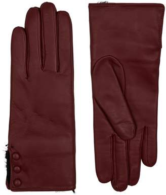 Harrods Sophie Wool Lined Leather Gloves
