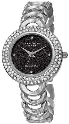 Akribos XXIV Silver Tone Dress Quartz Watch With Alloy Strap [AK1050SSBK]