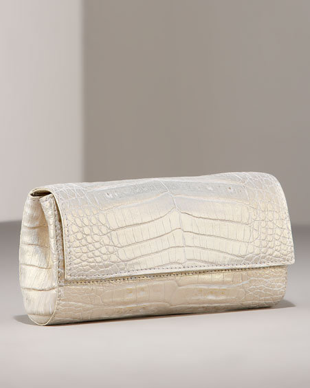 Nancy Gonzalez Brilliant Croc Slim Clutch