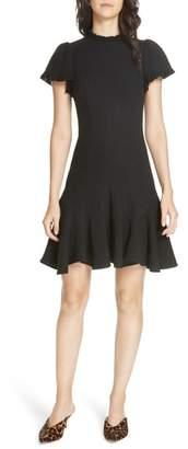Rebecca Taylor Tweed Short Sleeve Mini Dress