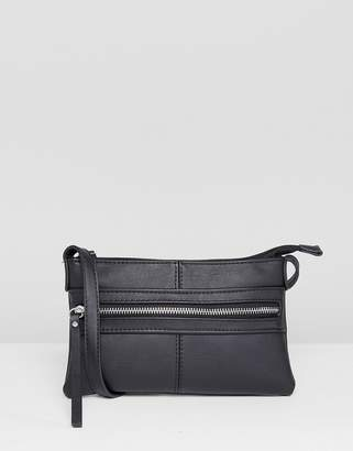 Pieces Leather Look Mini Cross Body Bag