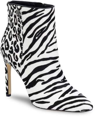 GUESS Tabres Mixed Animal-Print Pony Hair Booties