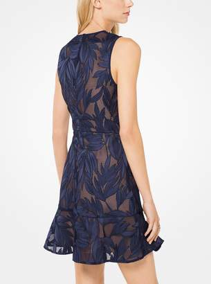 MICHAEL Michael Kors Palm Applique Mesh Dress
