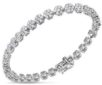Bloomingdale's Diamond Flower Tennis Bracelet in 14K White Gold, 5.0 ct. t.w. - 100% Exclusive