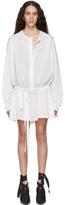 Ann Demeulemeester White Belted Shirt Dress
