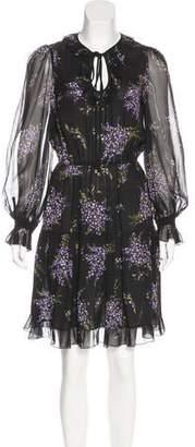 Michael Kors Silk Knee-Length Dress