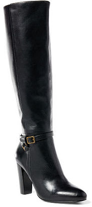 Ralph Lauren Valli Burnished Calfskin Boot $395 thestylecure.com