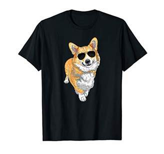 Corgi T-Shirt Gift Cute Funny Dog with Sunglasses