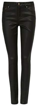 Wallis Petite Black Coated Trouser