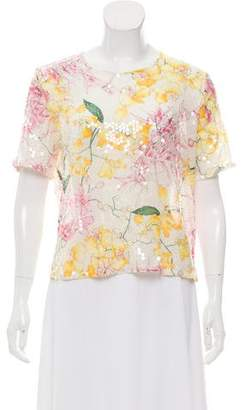 Valentino Floral Sequin Blouse