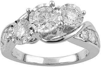 14k Gold 3-Stone Round Diamond Engagement Ring (2cttw