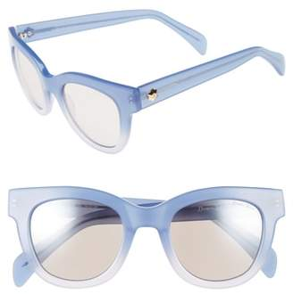 Draper James 50mm Gradient Lens Cat Eye Sunglasses