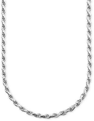 Giani Bernini Sterling Silver Necklace, Diamond Cut Rope
