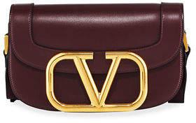 Valentino Garavani SuperV Smooth Leather Shoulder Bag