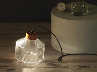 Authentics UK Pharos Table/Floor Lamp, Clear Glass