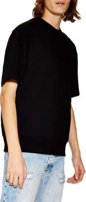 Topman Short Sleeve Crewneck Sweatshirt