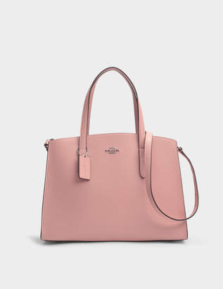 Coach Charlie Carryall Bag in Peony Calfskin