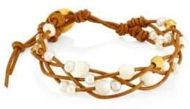 Chan Luu White Pearl Mix Bracelet
