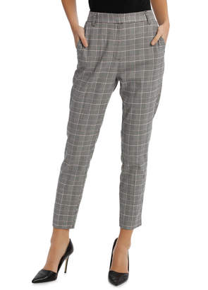 Miss Shop Check Straight Leg Pant