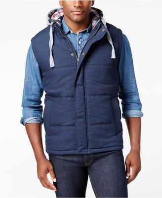 Weatherproof Vintage Men's Hooded Vest, Classic Fit $85 thestylecure.com