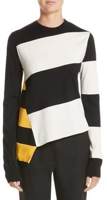 Calvin Klein Bicolor Stripe Merino Wool Blend Sweater