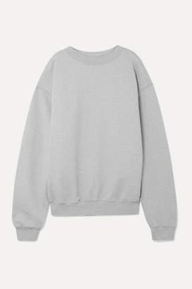 we11done Harry Oversized Cotton-blend Terry Sweatshirt - Light gray