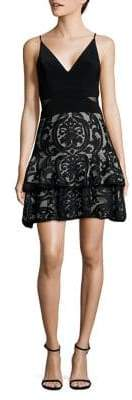 Xscape Evenings Embroidered Fit-and-Flare Dress