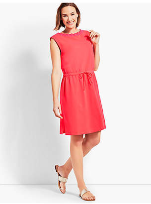 Talbots Scalloped Neck Pique Cover-Up