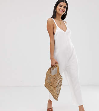 Asos Tall DESIGN Tall lounge soft linen look jumpsuit
